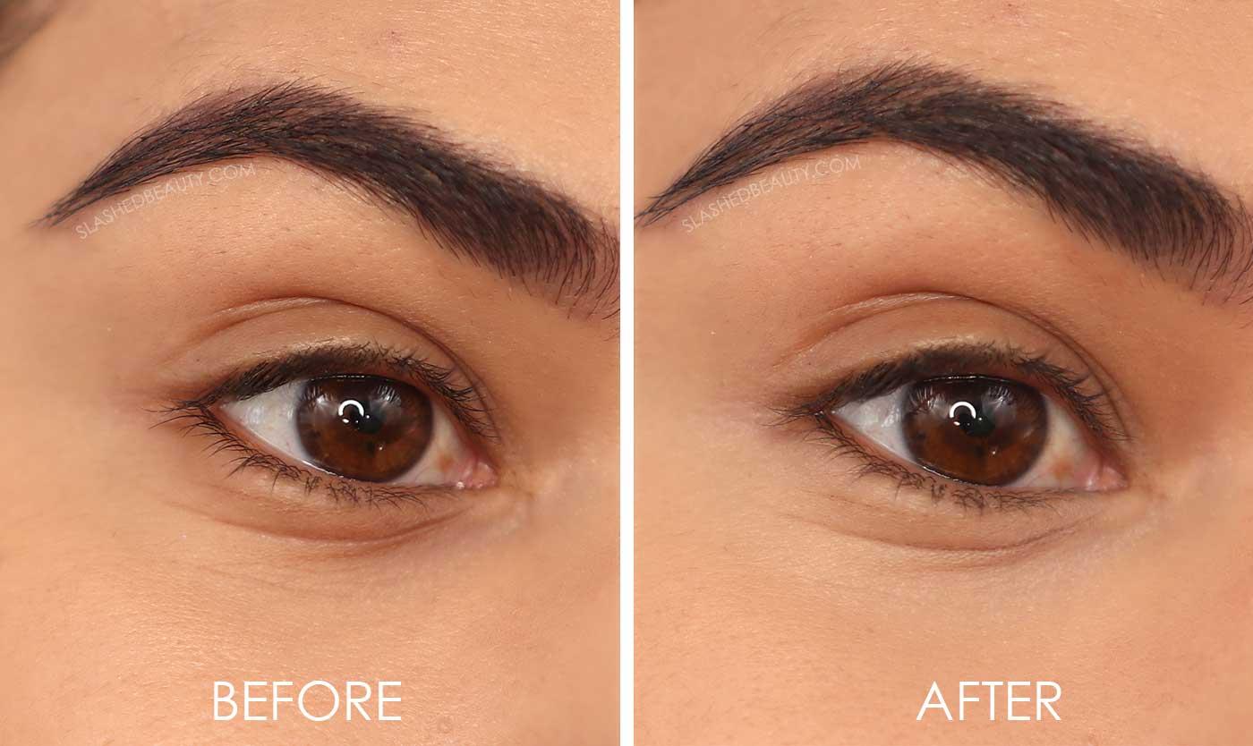 Makeup Revolution Eye Bright Concealer Before and After Application | Slashed Beauty