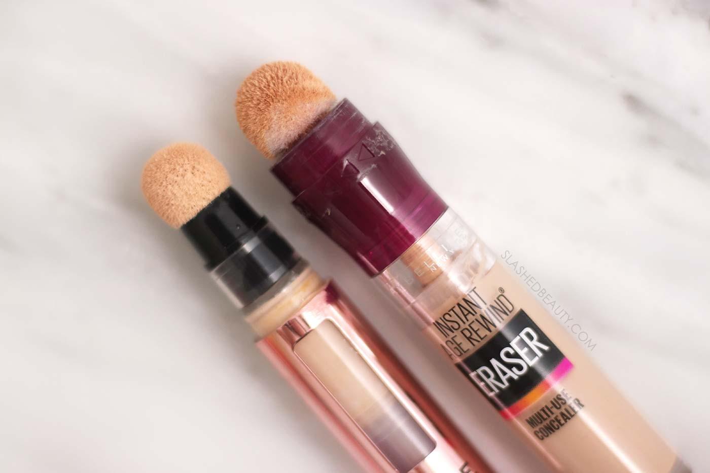Makeup Revolution Eye Bright Concealer vs. Maybelline Instant Age Rewind Concealer | Slashed Beauty