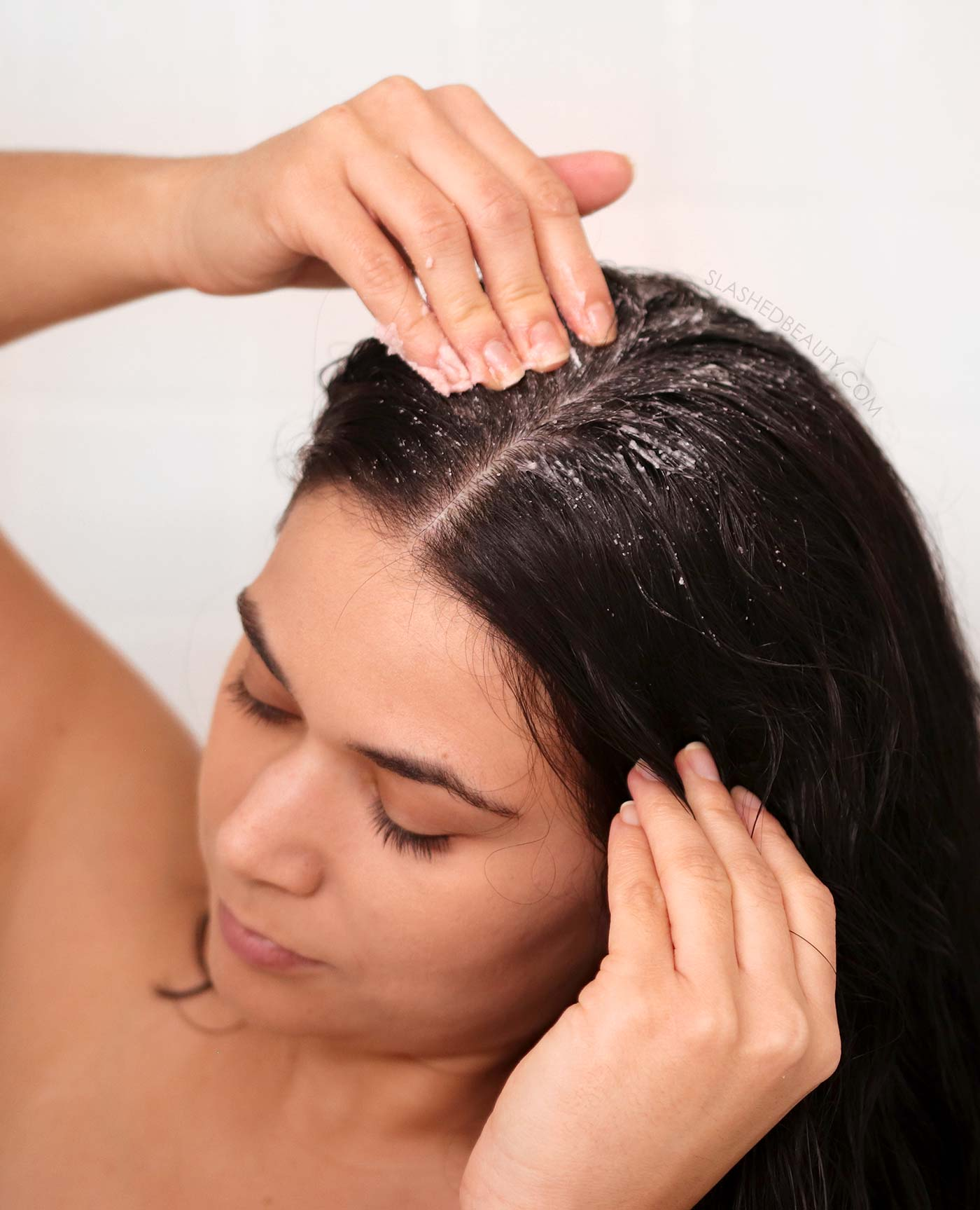 Scalp Detox: Exfoliating Using Scalp Scrub for Oily Hair, Flaky Scalp | Scalp Care Routine for Dandruff, Smelly Hair and Dry Scalp | Slashed Beauty