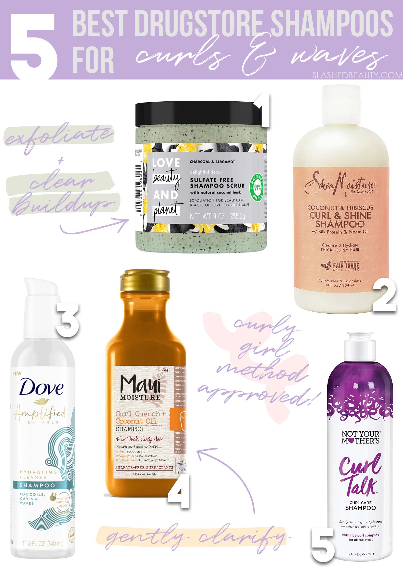 15 Best Drugstore Shampoos for Curly & Wavy Hair   Slashed Beauty
