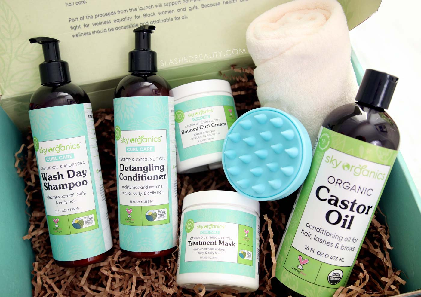Vegan & Affordable Curly Hair Products from Sky Organics   Slashed Beauty