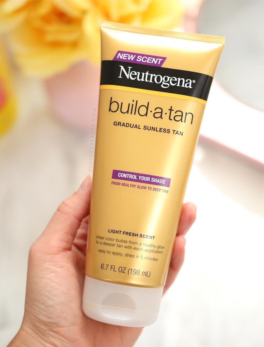 Best Drugstore Self Tanner: Neutrogena Build-A-Tan Review | Slashed Beauty