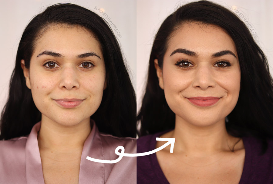 Milani Conceal + Perfect Cream to Powder Foundation Before and After Review | Slashed Beauty