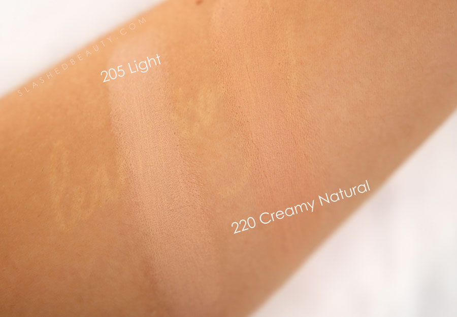 Milani Cream to Powder Foundation Swatches in Light and Creamy Natural| Drugstore Foundation Review for Combo Skin | Slashed Beauty