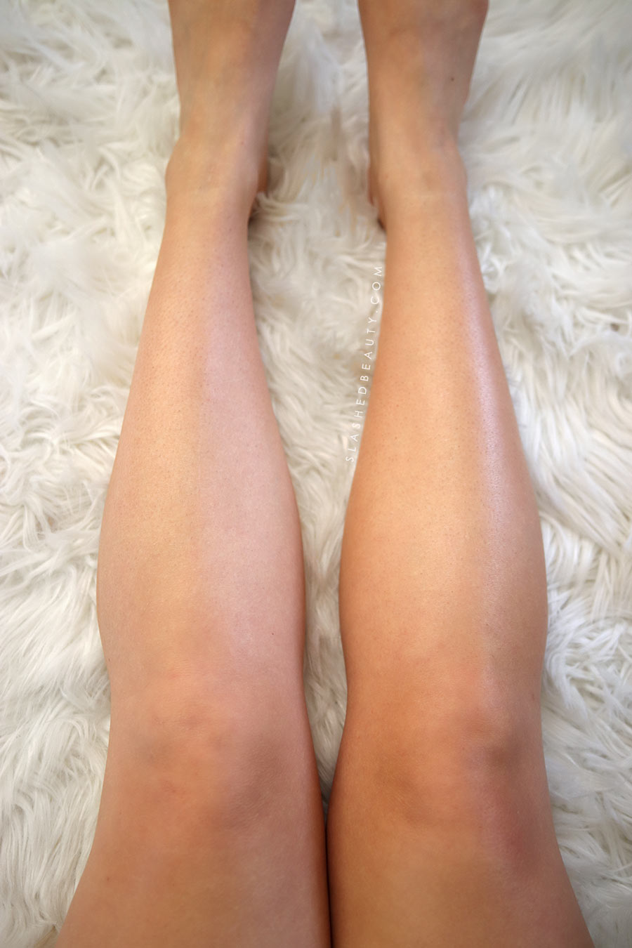 Neutrogena Build-A-Tan Before & After Results on Legs | Best Drugstore Self Tanner | Slashed Beauty