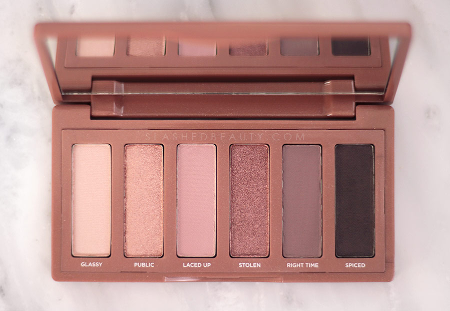 Close up of New Urban Decay Naked 3 Mini Eyeshadow Palette Shades | REVIEW: Urban Decay Naked 3 Mini Palette & Swatches | Slashed Beauty