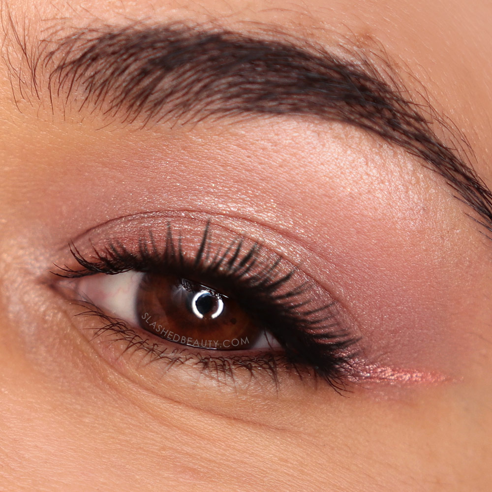 Soft rose gold eyeshadow look using the Urban Decay Naked 3 Mini Eyeshadow Palette | REVIEW: Urban Decay Naked 3 Mini Palette & Swatches | Slashed Beauty