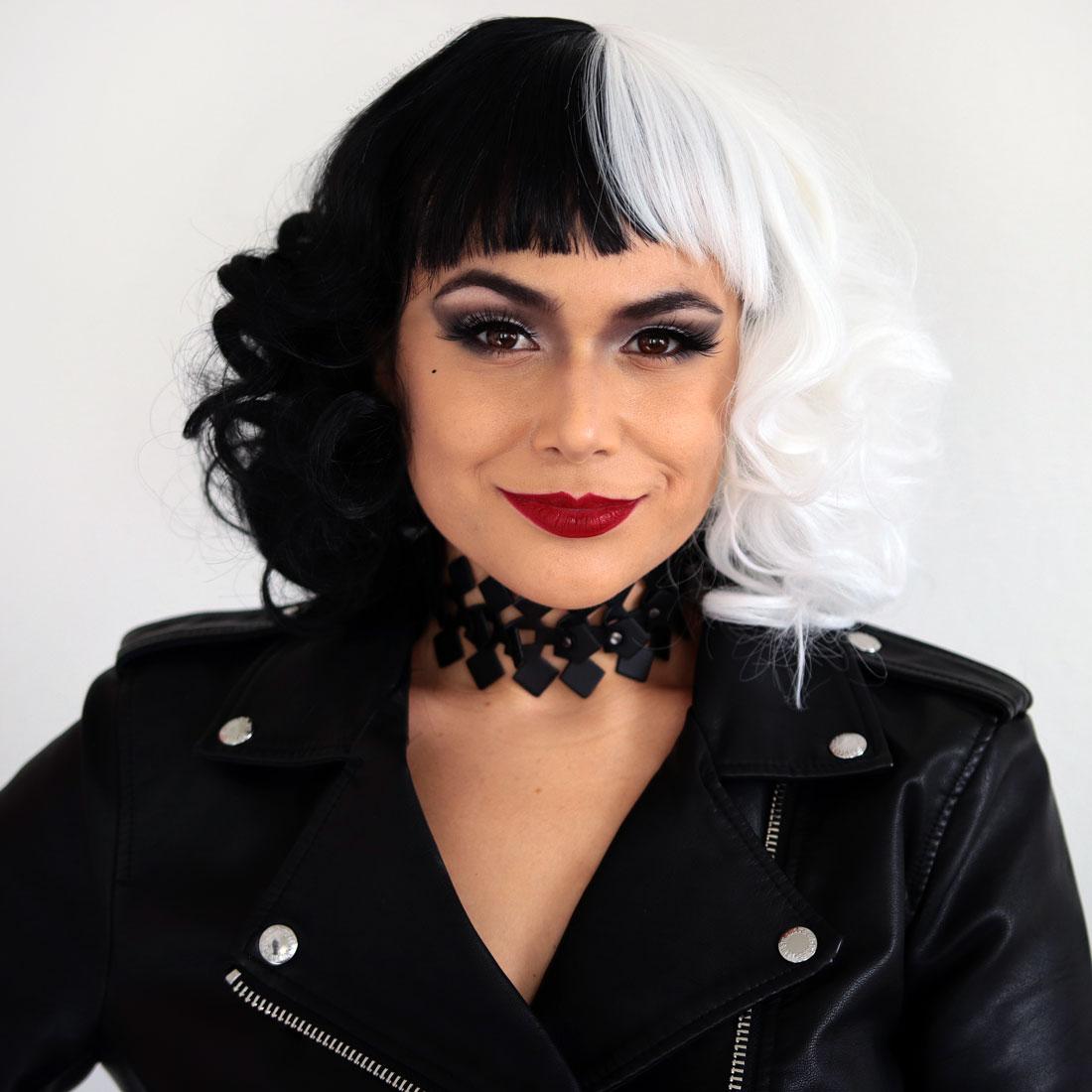 Easy DIY Cruella Halloween Costume & Makeup | Slashed Beauty